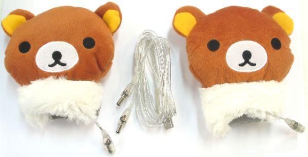 Los tiernos guantes de oso USB